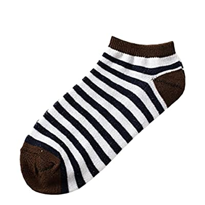 1Pair Women Socks, Sagton Women Stripe Cotton Socks Short Crew Socks Ankle Socks
