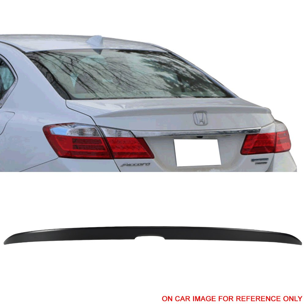 Pre-painted Trunk Spoiler Fits 2013-2016 Honda Accord |OE Style Painted #B588P Obsidian Blue Pear ABS Trunk Boot Lip Spoiler Wing Deck Lid Other Color Available By IKON MOTORSPORTS | 2014 2015