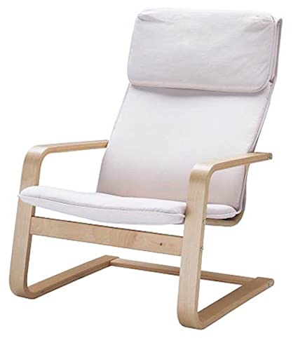 The Pello Chair Cotton Covers Replacement is Custom Made for IKEA Pello Chair Cover (Or Pello Armchair Slipcover). Multi Color Options (Bright White)