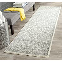Safavieh Adirondack Collection ADR108B Ivory and Silver Oriental Vintage Medallion Runner (26 x 12)