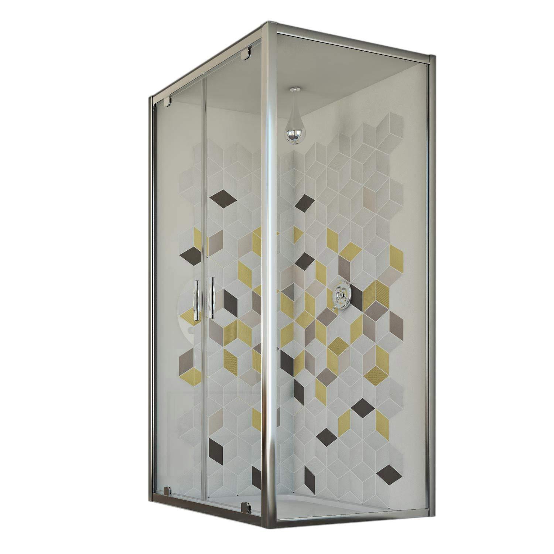 Idralite Mampara de Ducha 90x110 Ap. 110 CM H198 Vidrio Transparente Mod. Cristal Duo 2 Hojas: Amazon.es: Hogar