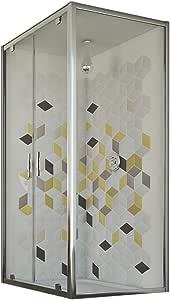 Idralite Mampara de Ducha 70x130 Ap. 130 CM H198 Vidrio Transparente Mod. Cristal Duo 2 Hojas: Amazon.es: Hogar