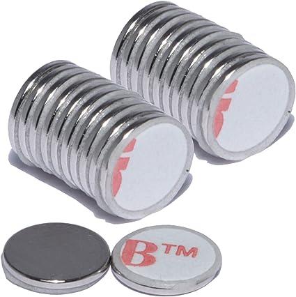 Neodym Scheibenmagnete selbstklebend Klebemagnete Rund Magnet Scheiben N35-N45