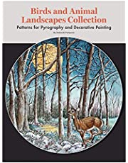 Birds and Animal Landscapes Collection: Patterns for Pyrography and Decorative Painting (Fox Chapel Publishing) 8 Large Ready-to-Use Patterns in Both Line and Color Tonal from Artist Deborah Pompano