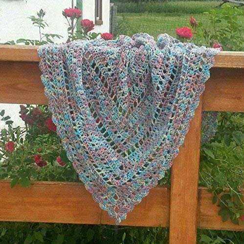 Summer Shawl - Large Triangle Scarf by Off Jayne's Hook & Bench