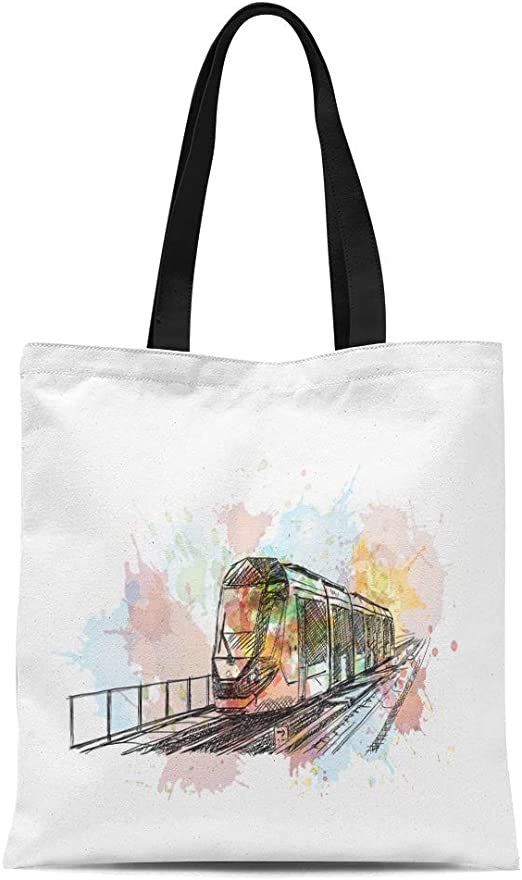 Big Fish Little Fish Canvas Tote Shopping Bag Cotton Printed Shopper Bag Gift