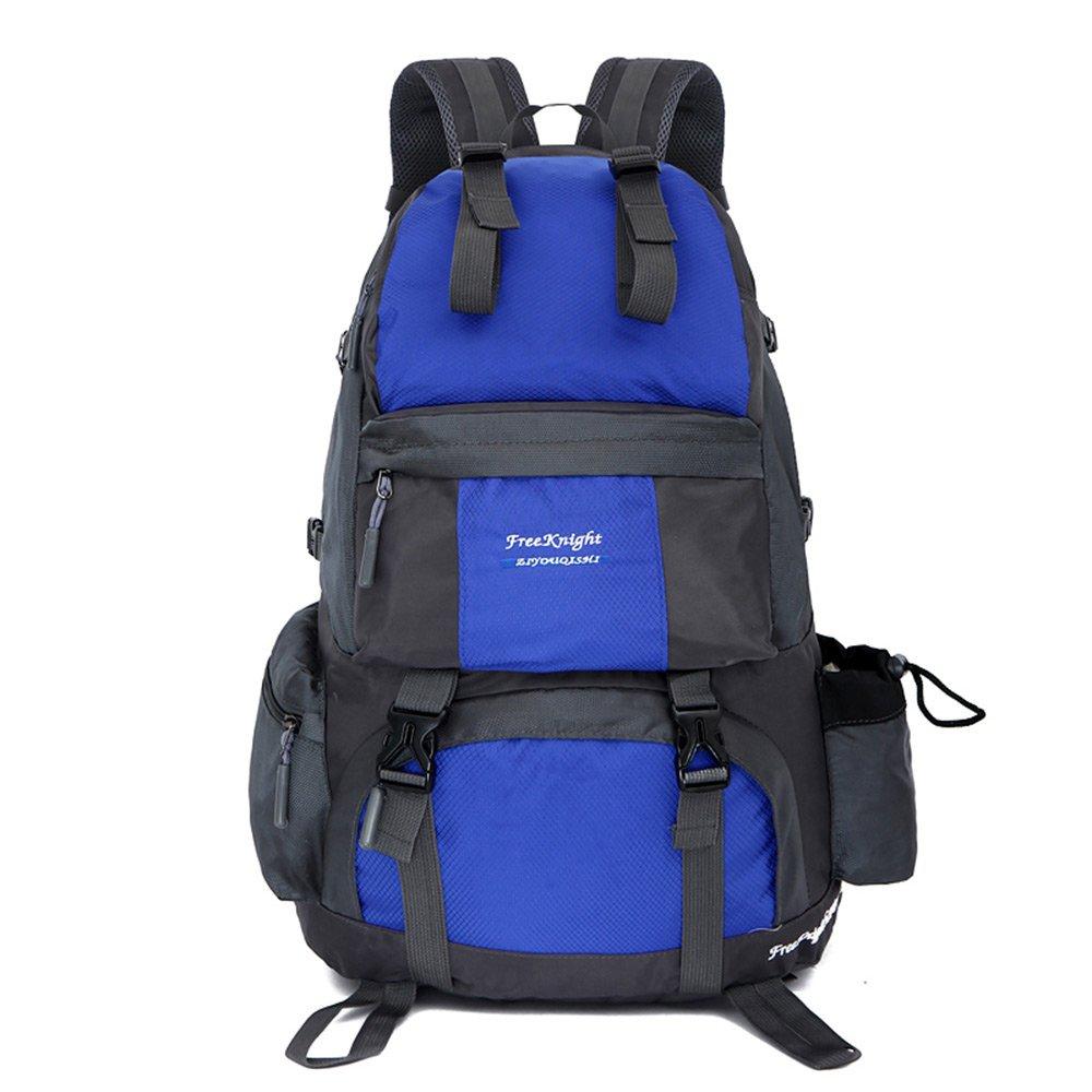 fhgj 50lアウトドアバックパック防水旅行ハイキング、バックパック、ハイキングキャンプスポーツバッグ  ブルー B07FJMXCDM