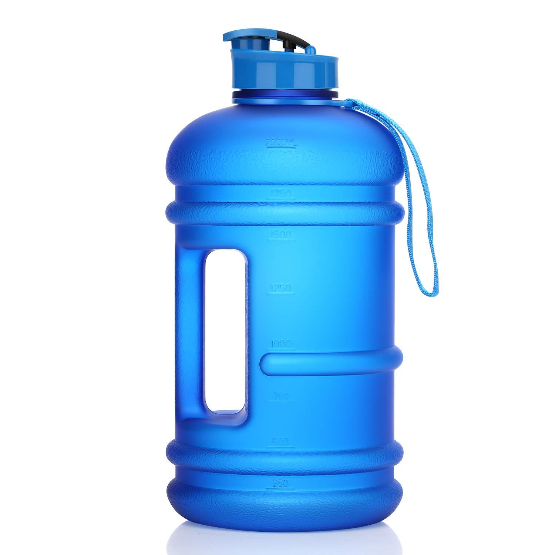 Homiguar Water Jug, Half Gallon Large Water Bottle, 75oz 2.2L BPA-Free Water Bottle, Dishwasher Safe, Leakproof