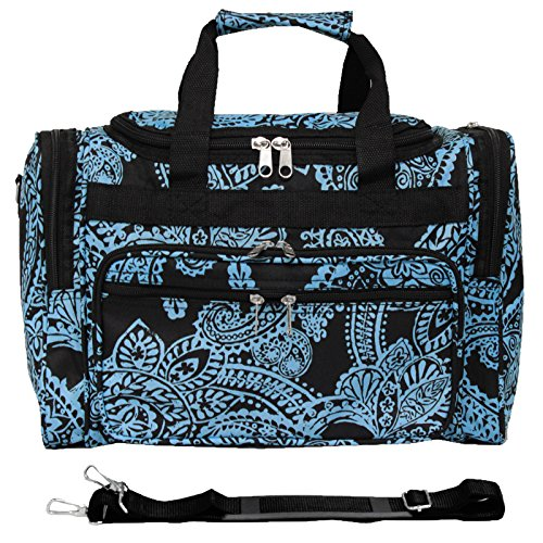 World Traveler 81T16-642  Duffle Bag, One Size, Black Blue (Best World Traveler Shoulder Bags)