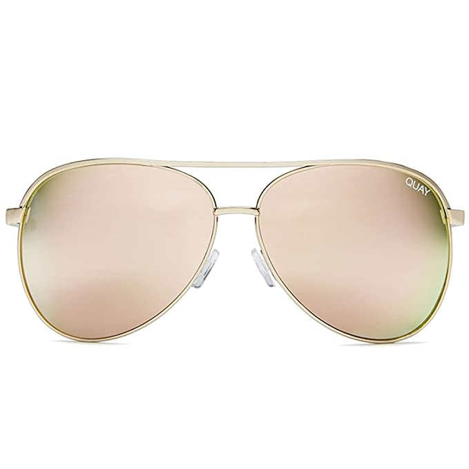 5b25071f8c Quay Women s Mirrored Vivienne QC-000098-GOLD ROSE Gold Aviator Sunglasses