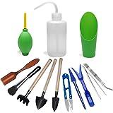 13 Pieces Mini Garden Hand Tools Transplanting Tools Succulent Tools Miniature Planting Gardening Tool Set for Indoor Miniatu