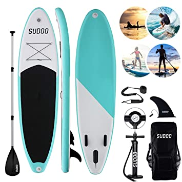 Triclicks Tabla Hinchable Paddle Surf/Sup Paddel Surf dacon Bomba, Mochila, Aleta Central Desprendible, Kit de Reparación, Remo Ajustable, La Cinta ...