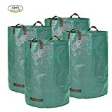 Gardening Waste Bags, Frideko 4 Pack Heavy Duty Reusable Gardening Containers 272L/72 Gallon Polypropylene Leaves Weeds Storage Bag for Garden