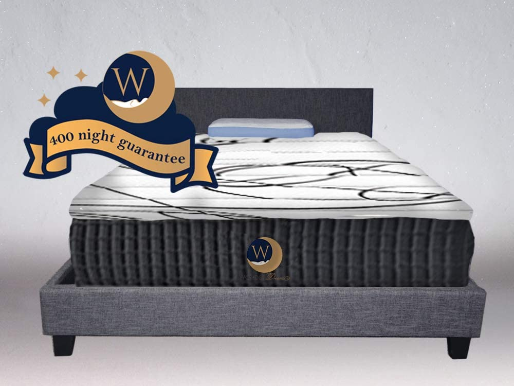 NBD Corp Luna Series 12 Dual-Firmness Hybrid Cool Sleep Mattress by WonderDreamz Made with CertiPur-US Certified Foam Individually Encased Pocket Springs. 400-night Sleep Trial 10 yr Warranty