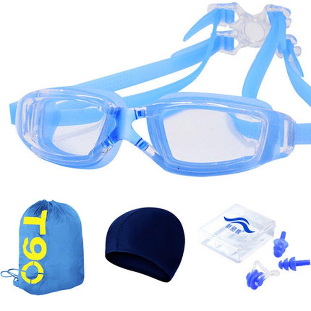 Wasserdichte Anti-Fog und und und UV Galvanik Schwimmbrille Männer und Frauen große Box flache Licht Schwimmbrille B07C785F79 Schwimmbrillen Günstige Bestellung f66476
