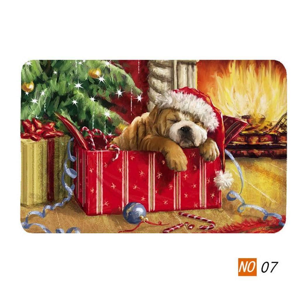 pioleUK Tappetino Antiscivolo Morbido Stampato per Serie Creative di Natale per Il Bagno della Cucina Tappeti