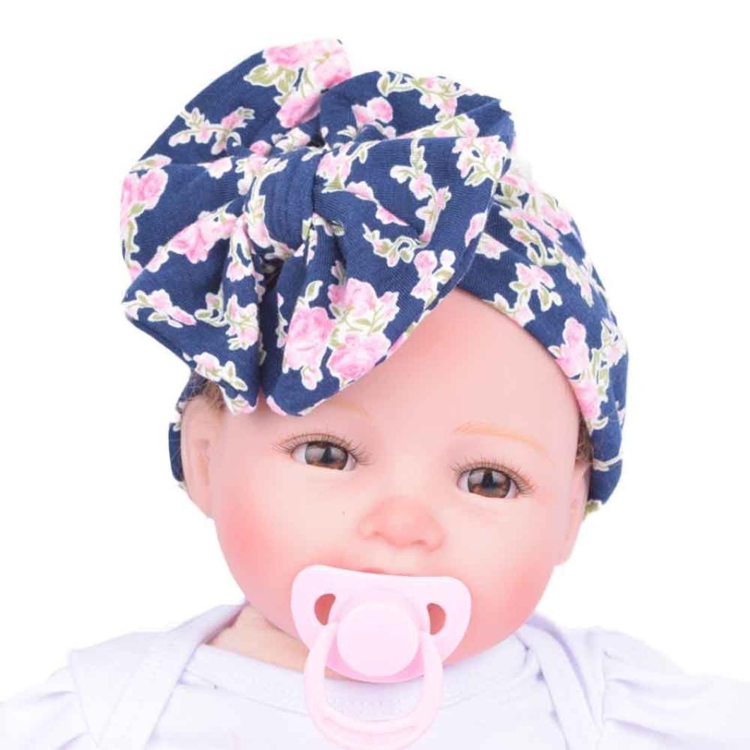 GQMART Baby Infant Kids Girls Bowknot Hairband Turban Bowknot Head Wrap Hairband