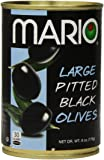 Mario Camacho Foods Black Olives, Large Pitted, 6.0 Ounce (Pack of 12)