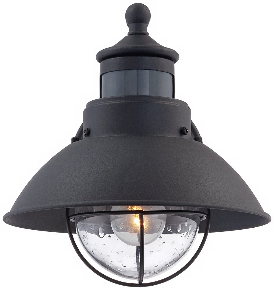 Oberlin 9 H Black Dusk To Dawn Motion Sensor Outdoor Light Com