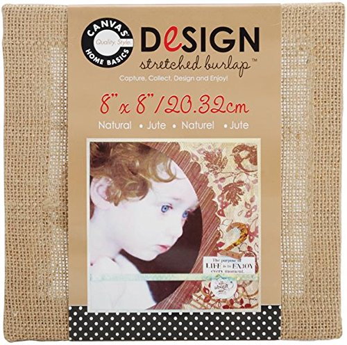 Canvas Corp 8-Inch by 8-Inch Jute Stretched Natural Burlap
