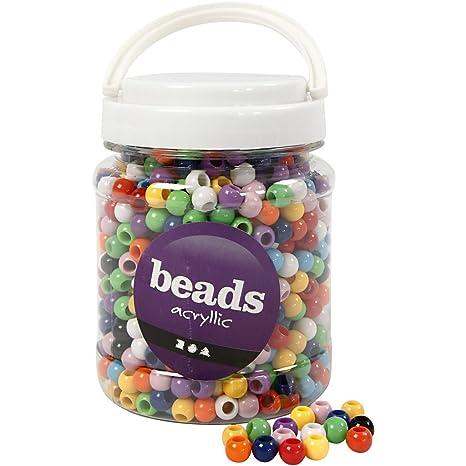 Perlen farbig sort. 0,05 EUR//Stk.
