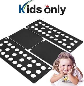 PetOde Shirt Folder Shirt Folding Board Clothes Folder Easy and Fast Flipfold for Children, Black