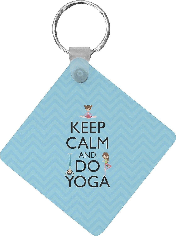 Keep Calm & Do Yoga Diamond Key Chain (Personalized)