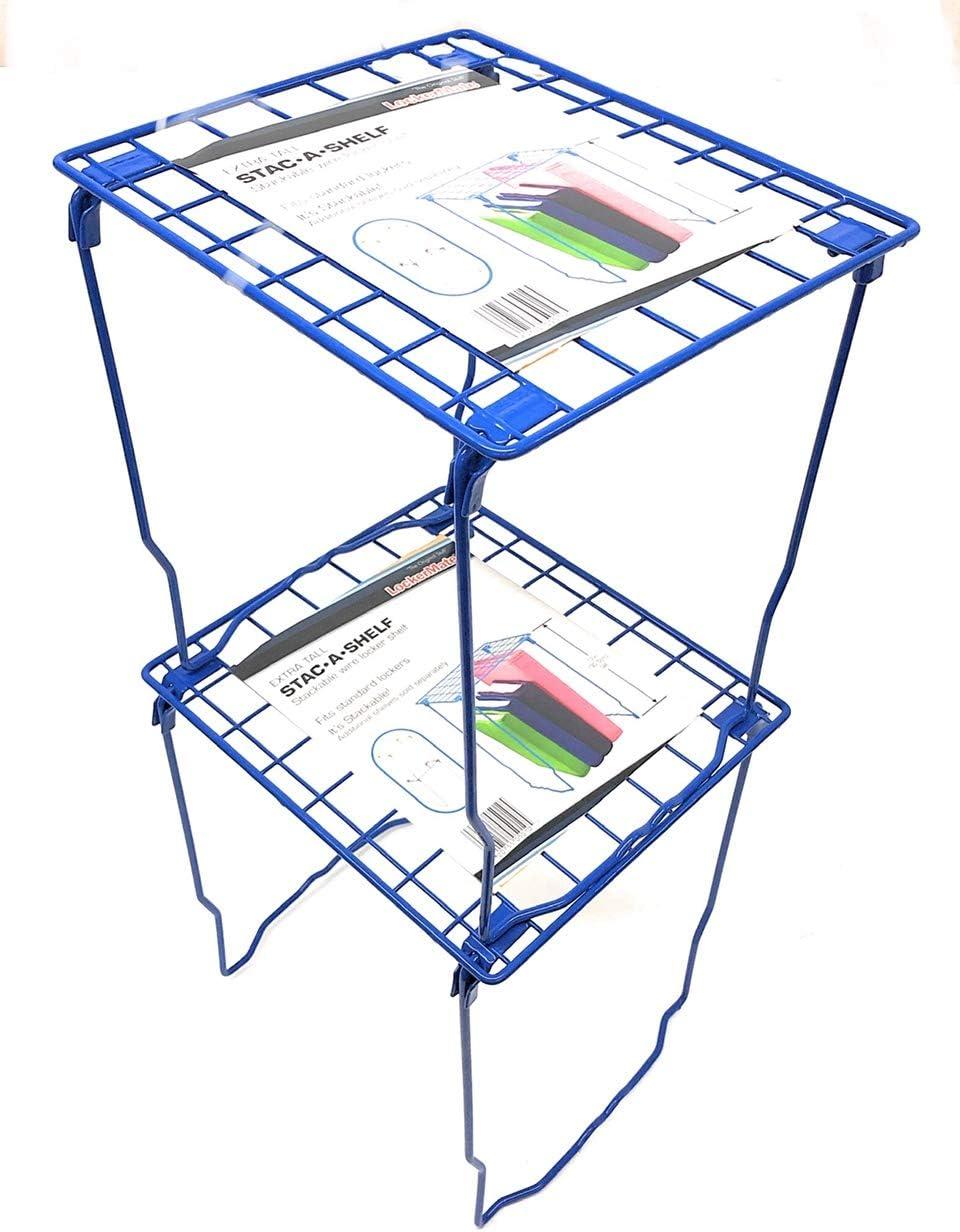 Lockermate Stac-a-Shelf 12 Locker Shelf 2-Pack, Blue