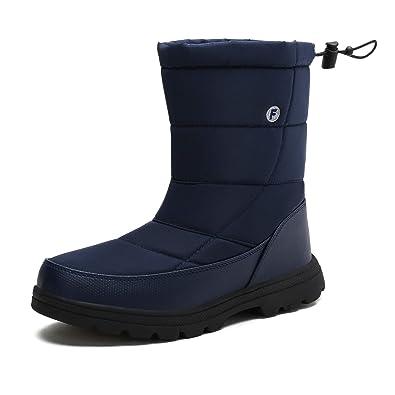 bc10ec76d5e09c Winterstiefel Warm Gefütterte Schneestiefel Herren Damen Winterschuhe  Stiefelette Outdoor Wasserdicht Boots (Blau