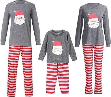 Gtagain Navidad Pijamas Combinación Familia - Unisex Conjunto ...