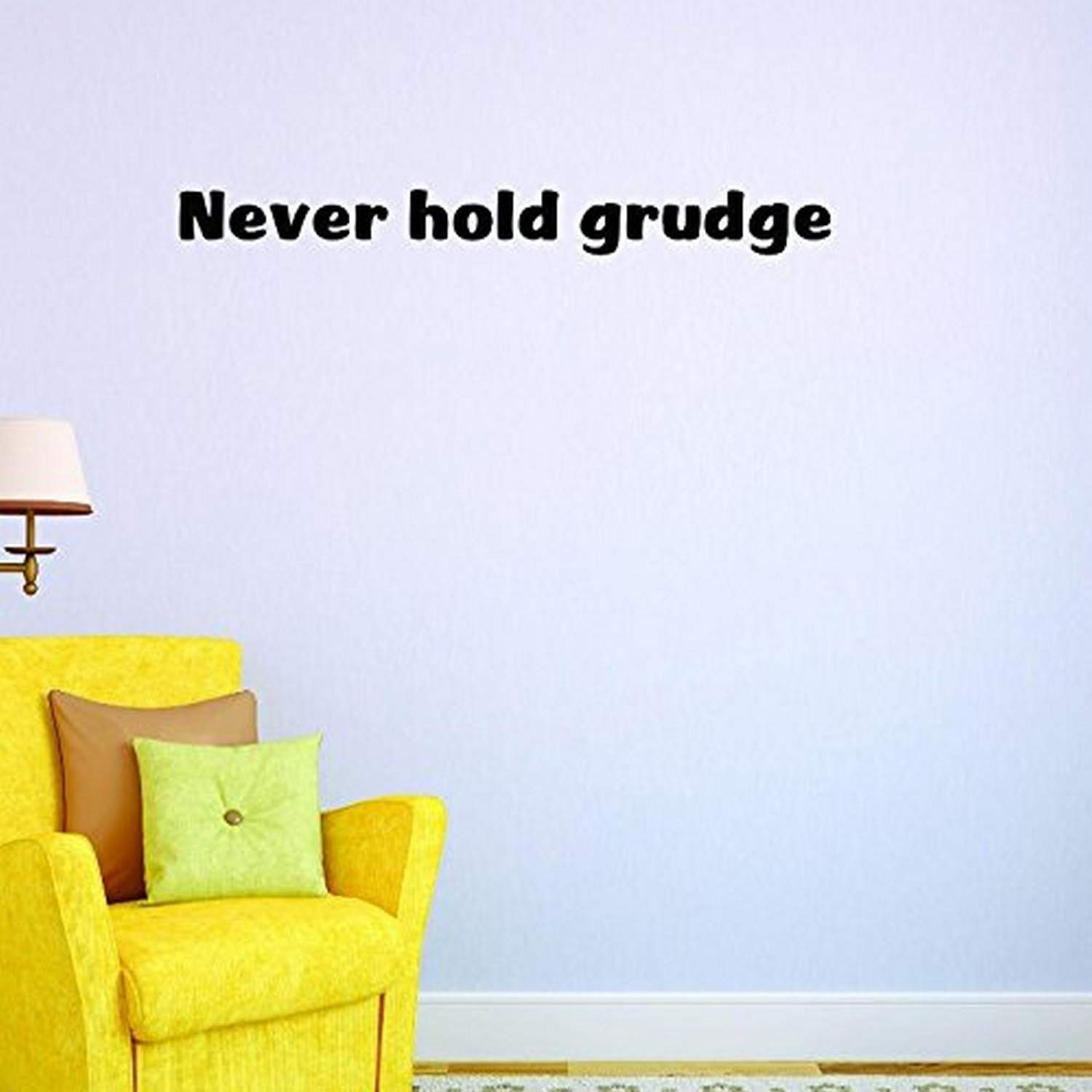10 Inches X 36 Inches Color Wall Art Size Design with Vinyl US V SOS 1025 3 Top Selling Decals Never Hold Grudge Black 10 x 36