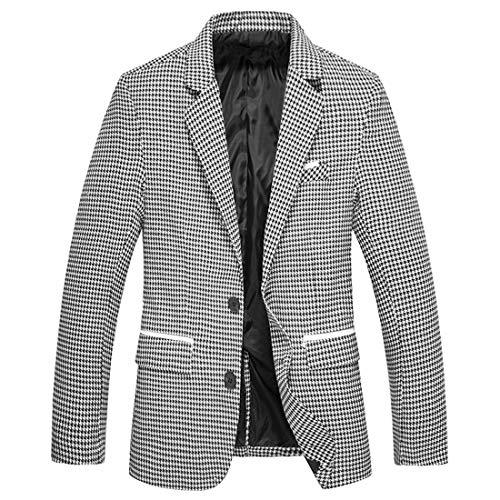 Nanquan-men clothes NQ Mens Fashion Checkered Slim Suits (US XLarge, Seven) for $<!--$24.44-->