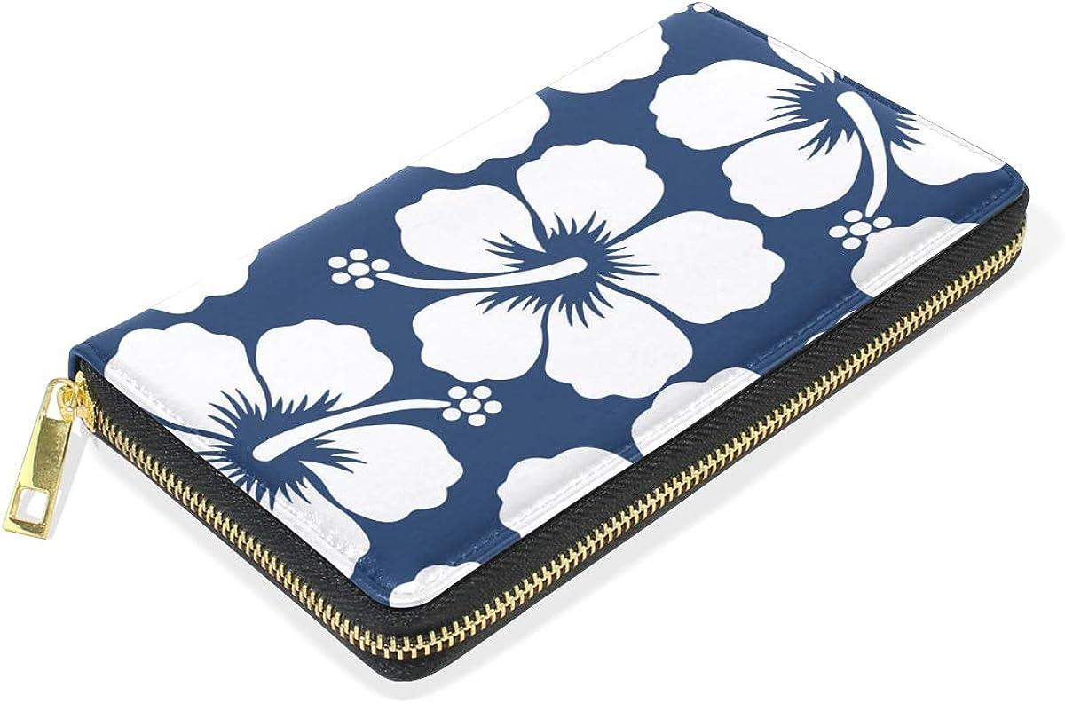 Amazon.com: Cartera de piel para mujer, diseño de flores ...