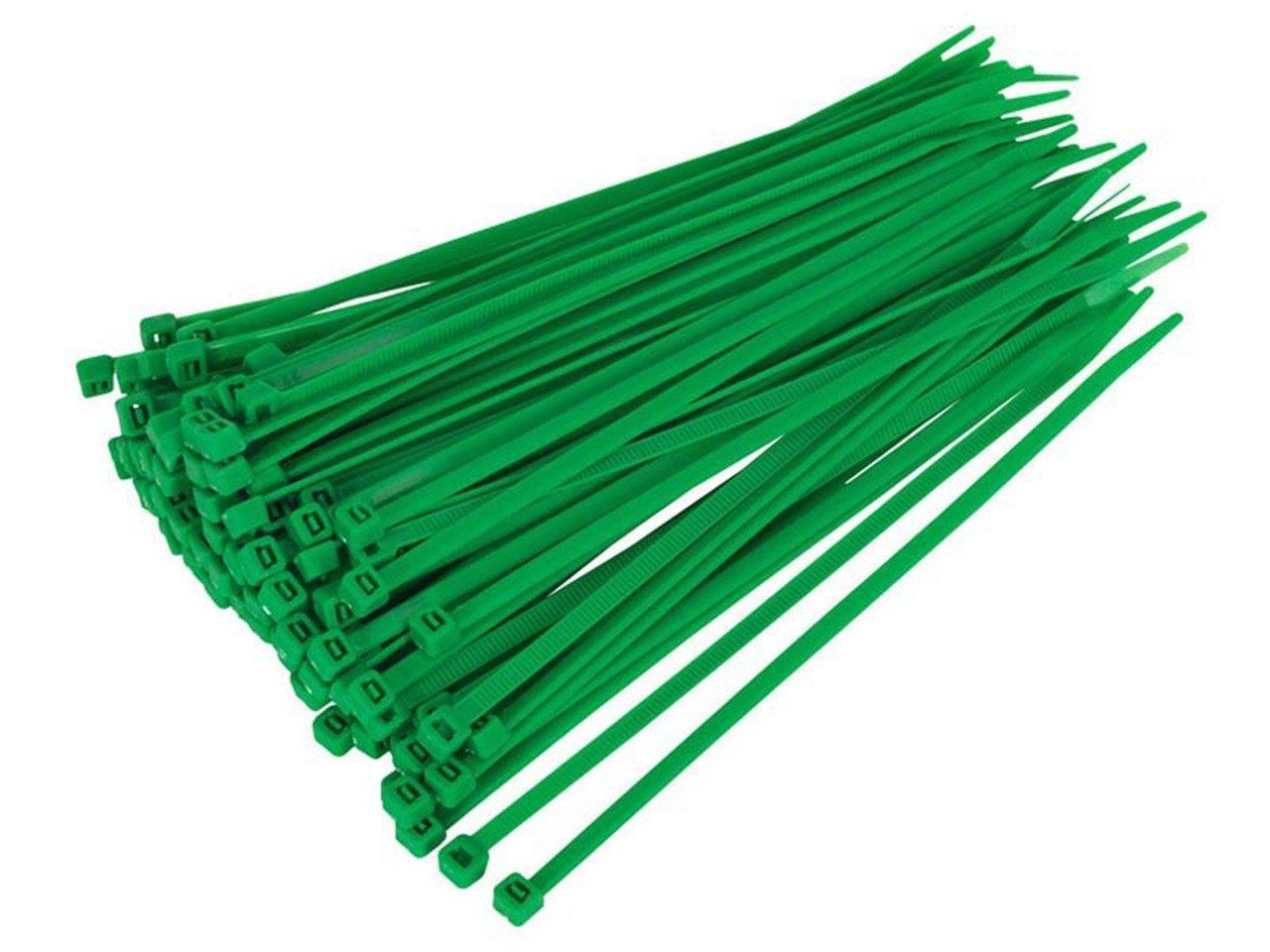100 liens Câ ble Vert, en nylon ré sistant, 100 mm x 2,5 mm en nylon résistant Generic