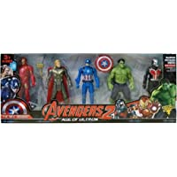 Amisha Gift Gallery® Super Hero Toys Set - Captain America, thor, Ironman, Hulk, Ant Man and Thor - 5 Action Hero Collection ( Multicolor) Height - 4.5 inches