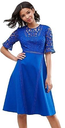 84f8481299184 (エイソス)ASOS プレミアムレース ミディドレス ASOS Premium Lace Insert Midi Dress (UK8