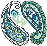 Brewster Wall Pops WPD99846 Peel & Stick Paisley Please Blue/Green, 4-Sheets