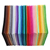 Fabric Pack Felt Sheets,WinnerEco 40pcs Non-Woven Polyester Cloth DIY Crafts Felt Fabric Sewing Accessories
