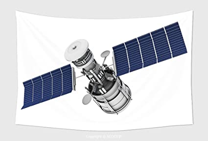 amazon com home decor tapestry wall hanging satellite