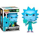 Funko Pop! Animation: Rick & Morty - Hologram Rick Protestor (GW) (Exc), Action Figure - 44254