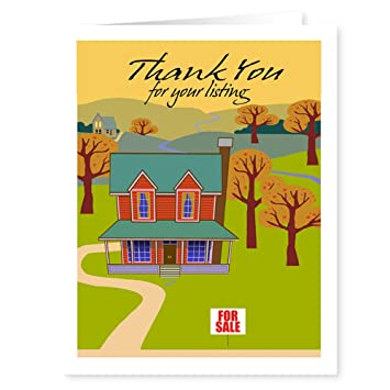 Amazon.com : Real Estate Thank You Note Card - 18 Note Cards and ...