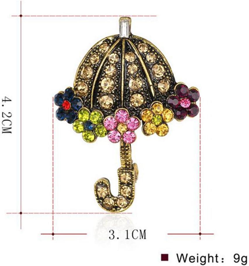 Drawihi Einfache Mode Dame Retro niedlicher Legierungs Regenschirm Brosche und M/ädchen frauen feiertags geschenke zeigen Ihre elegante Sch/önheit und Charme 1 Stuck