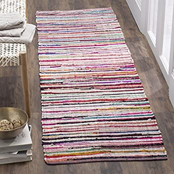 safavieh rag rug collection rar240a ivory and multi runner