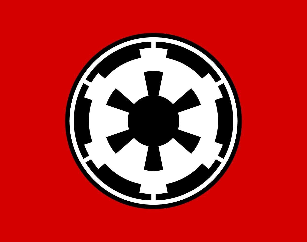 magFlags Bandera Large Galactic Empire | Galactic Empire Star Wars | Bandera Paisaje | 1.35m² | 100x130cm: Amazon.es: Jardín