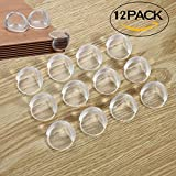 Image of FSLIFE 12 PCS Ball Shape Clear Furniture Corner Protectors with Matt Finish - Children Proof Corner Safety Bumpers - Baby Proofing Corner Guards - Table Corner Cover - Desk Edge Corner Cushion caring
