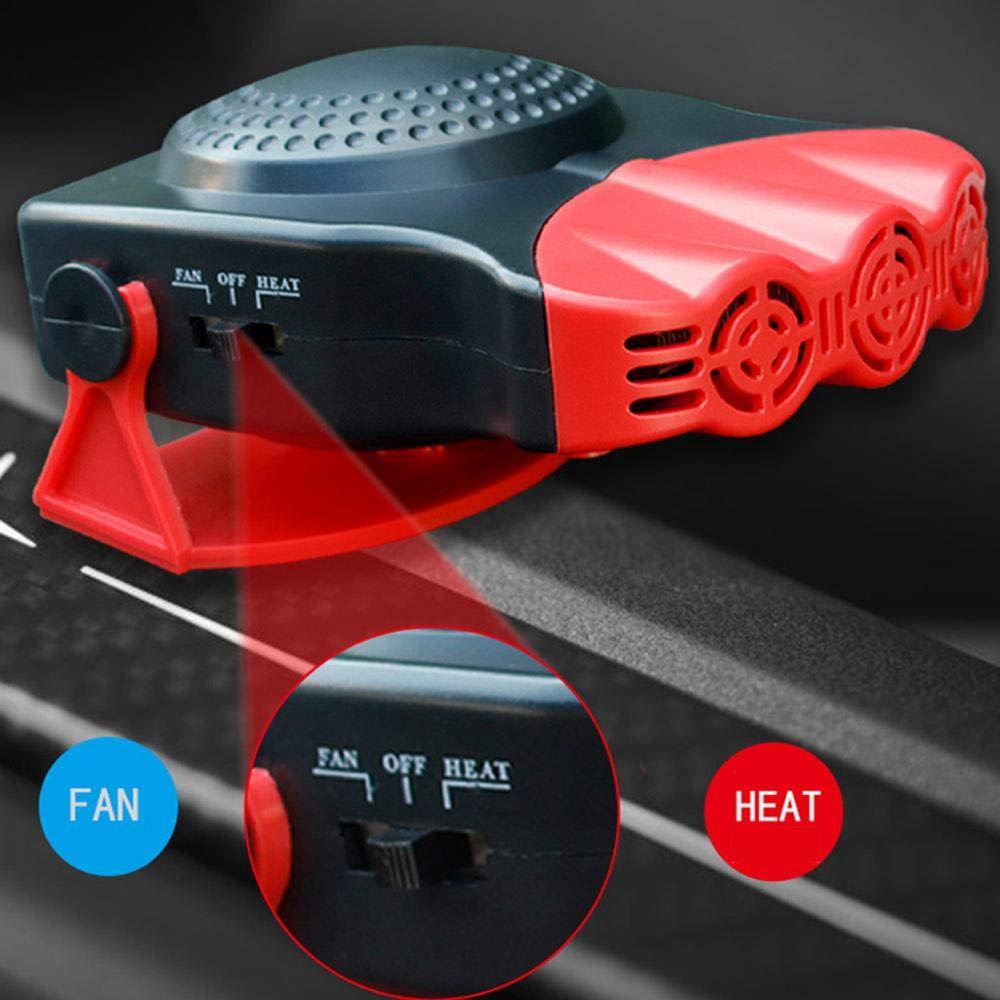 Auto Heizung Defroster,lesgos Schnelle Heizung entfrostet Defogger 12V 150W Selbstheizung 2 in 1 beweglichem Auto-Heizungs-Fan mit faltendem Griff die schnell abk/ühlt
