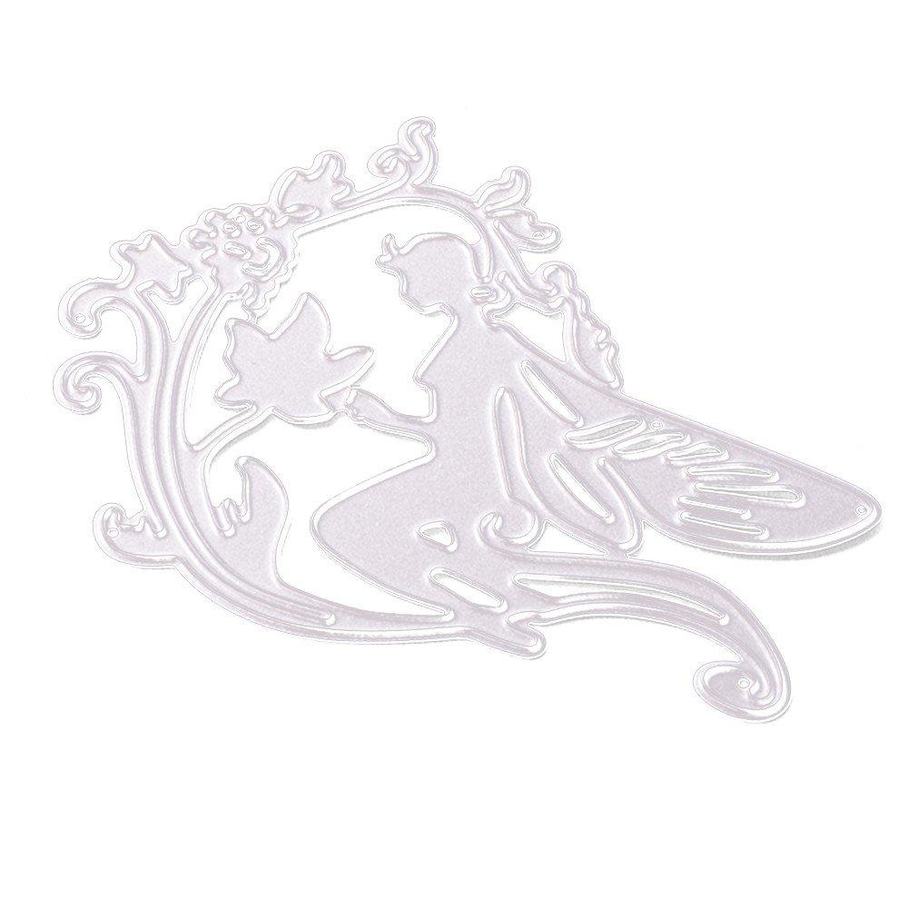 DIPOLA Troqueles Scrapbooking Corazón de Flores Plantillas de Troqueles de Corte de Metal DIY Scrapbooking Álbum Paper Card y Sobre &03: Amazon.es: Hogar