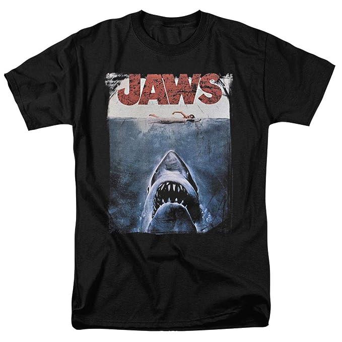 7bce34afd75bb Amazon.com: Jaws Shark Original Movie Poster T Shirt & Stickers ...