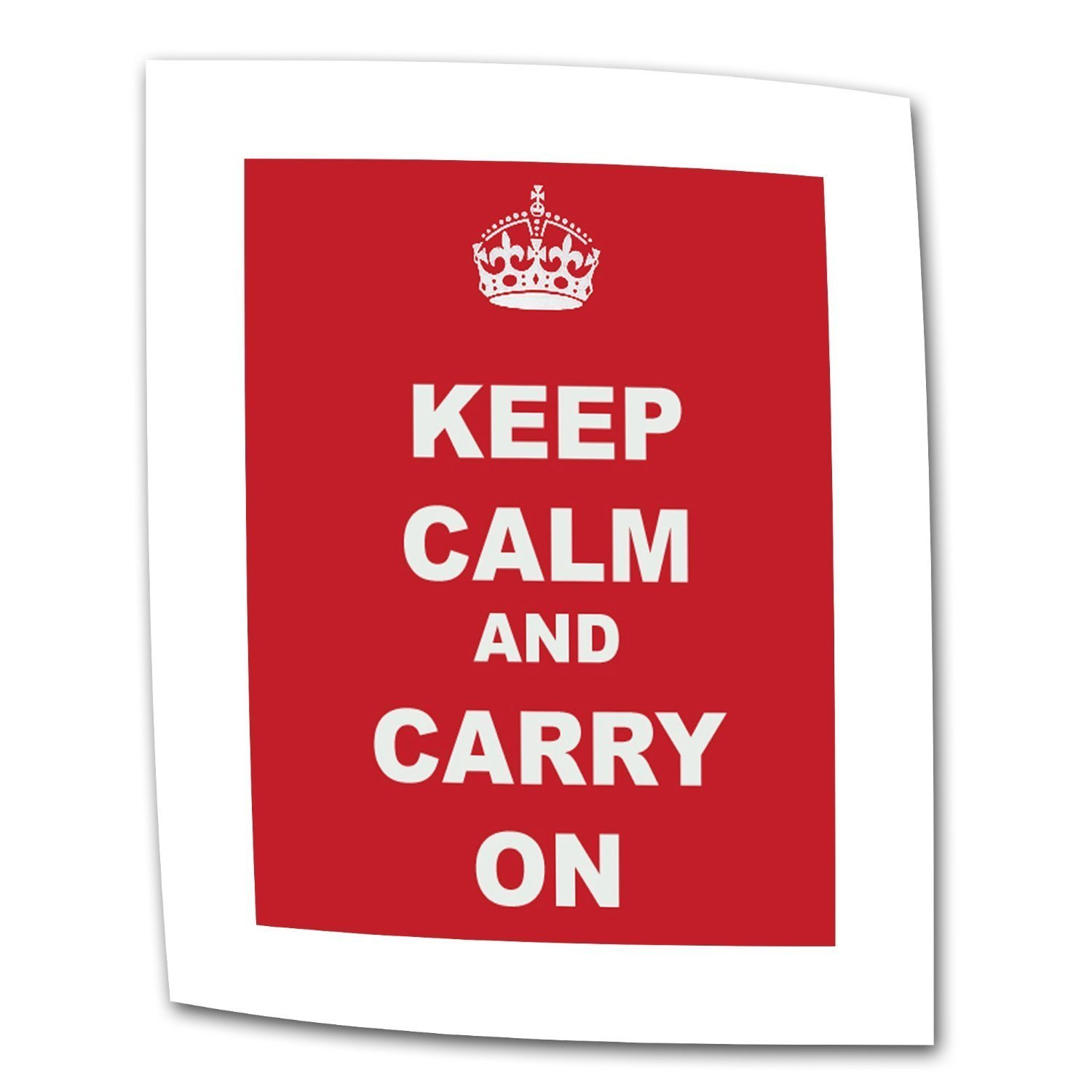 ArtWall Keep Calm and Carry on by The United Kingdom Rolled Canvas Art, 24 by 32-Inch