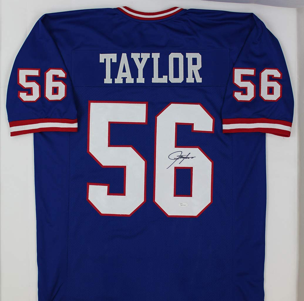 Lawrence Taylor Autographed Blue New York Giants Jersey Hand Signed By Lawrence Taylor and Certified Authentic by JSA Includes Certificate of Authenticity